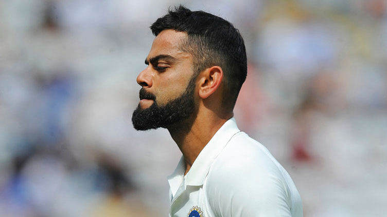 Virat Kohli walks off the ground after being dismissed on Day 4 of the first Test against England. Image used for representational purpose.