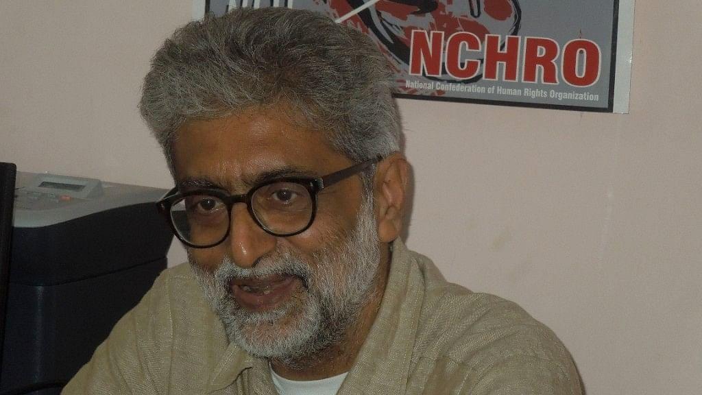File photo of Gautam Navlakha.