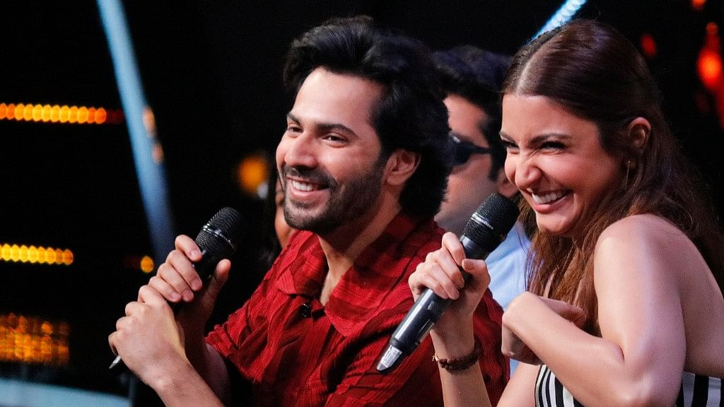 Varun Dhawan and Anushka Sharma during the promotions of <i>Sui Dhaaga - Made in India</i>.