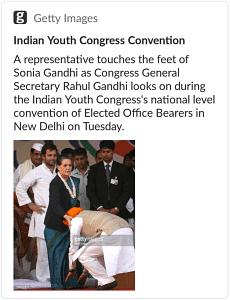 No, That's Not Manmohan Singh  Touching Sonia Gandhi's Feet