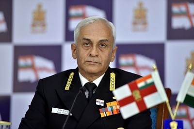Navy chief Admiral Sunil Lanba.