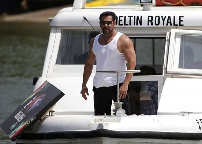 Goa: Actor Salman Khan arrives to launch the 12th Edition of Big Boss at Coco Beach, in North Goa on Sept 4, 2018. (Photo: IANS)