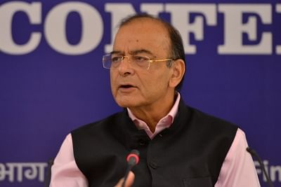 New Delhi: Union Finance and Corporate Affairs Minister Arun Jaitley chairs Annual Review Meeting of the CEOs of Public Sector Banks (PSBs), in New Delhi on Sept 25, 2018. Also seen Union MoS Finance Shiv Pratap Shukla and other dignitaries. (Photo: IANS)