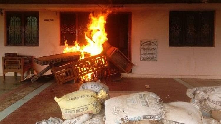 Agitated Supporters Of TDP MLA Set Police Station On Fire