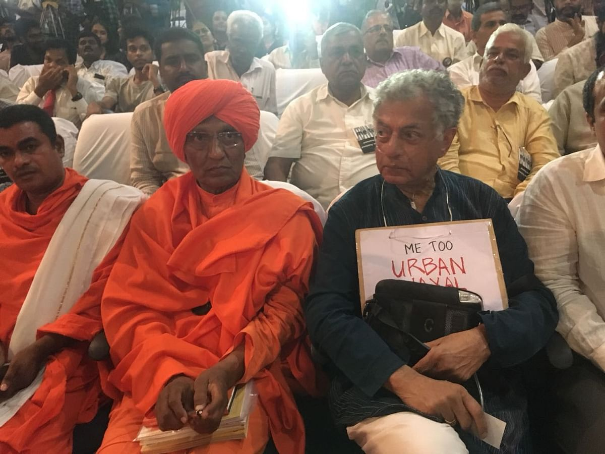 Swami Agnivesh and Girish Karnad at the event.