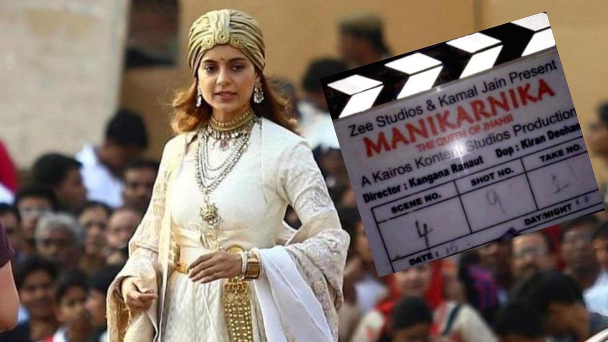 Kangana Ranaut on the sets of <i>Manikarnika: The Queen of Jhansi. </i>
