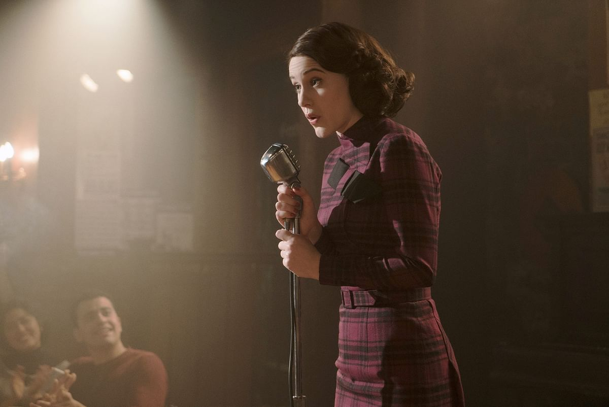 Rachel Brosnahan in a still from<i> The Marvelous Mrs. Maisel</i>.