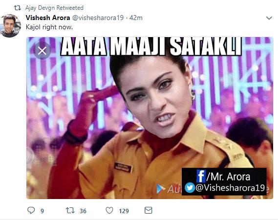 Kajol Responds to Ajay Devgn's Twitter Prank