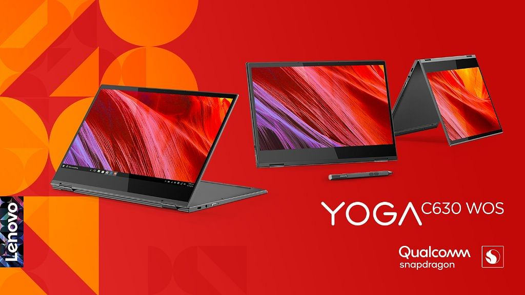 The C630 Yoga Laptop is powered by a smartphone-grade Qualcomm processor.