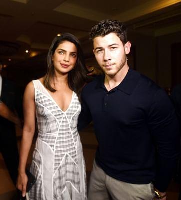 Actress Priyanka Chopra and her American singer beau Nick Jonas. (Photo: IANS)