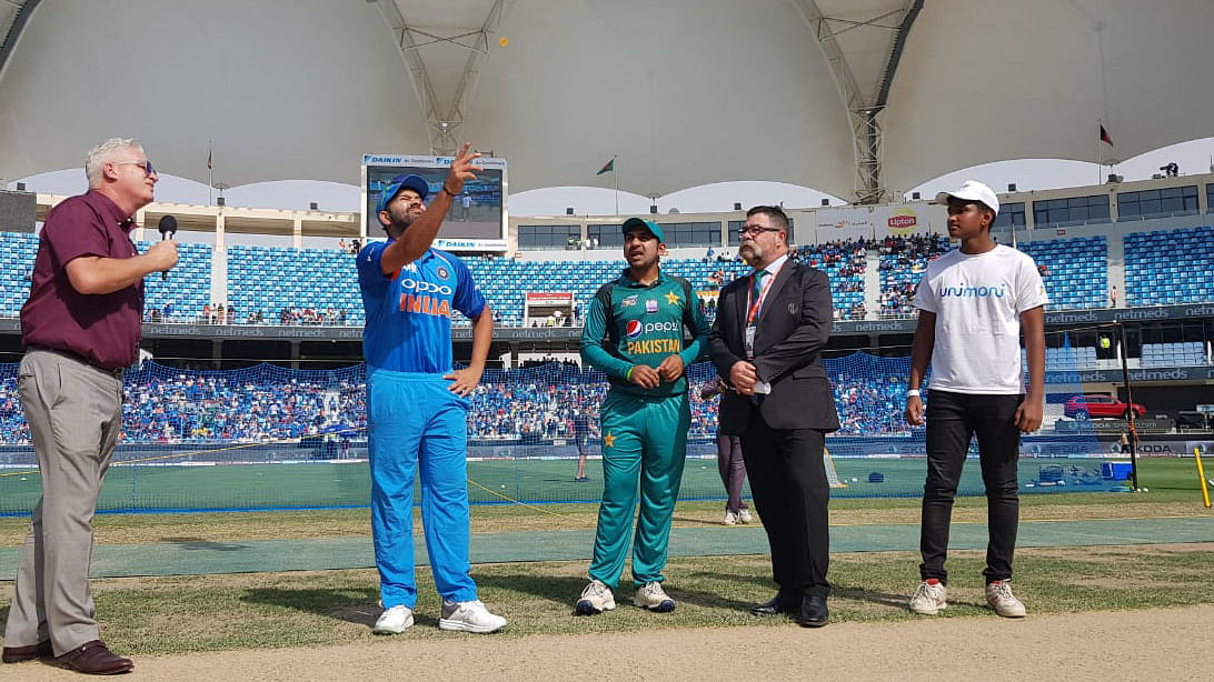 India vs Pakistan Asia Cup: Sarfraz Ahmed won the toss and elected to bat first against India in Dubai.