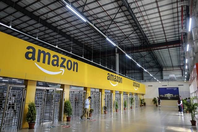 File image of an employee exiting the warehouse floor of the Amazon.com Inc fulfilment centre in Hyderabad. Photo used for representational purposes only.