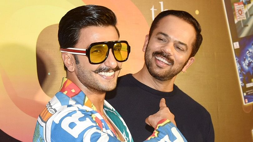 Ranveer Singh with his <i>Simmba </i>director,  Rohit Shetty.&nbsp;