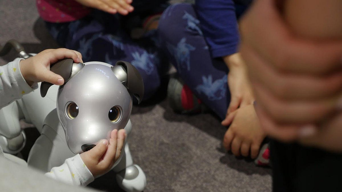 The new Aibo has 4,000 parts, 22 actuators, OLED Screens as eyes and its nose is a camera.