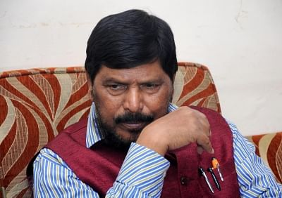 Union Minister and RPI (A) chief Ramdas Athawale. (Photo: IANS)
