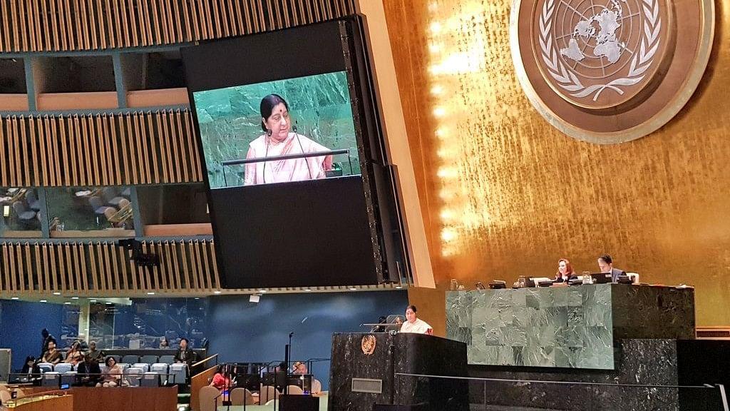Pak Praises Killers, Doesn't See Blood of Innocents: Swaraj at UN