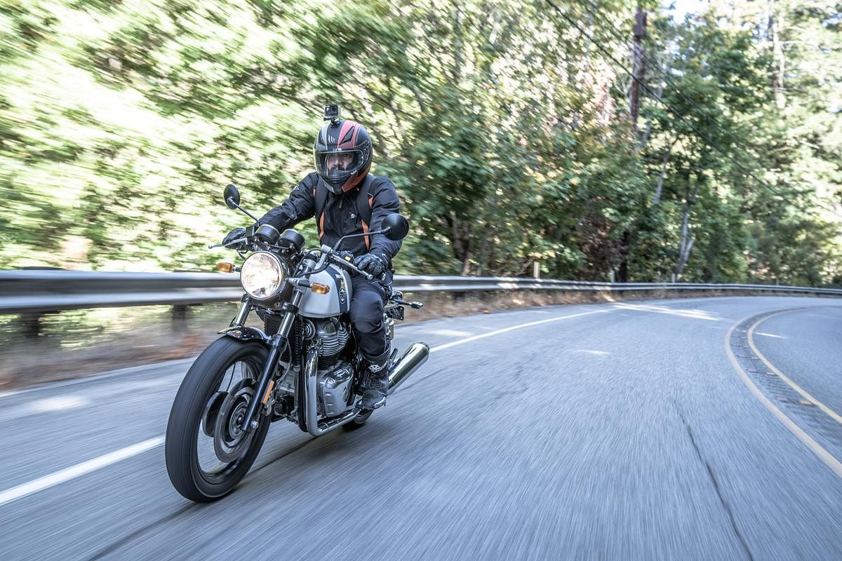 The Continental GT 650 has a more committed riding position.