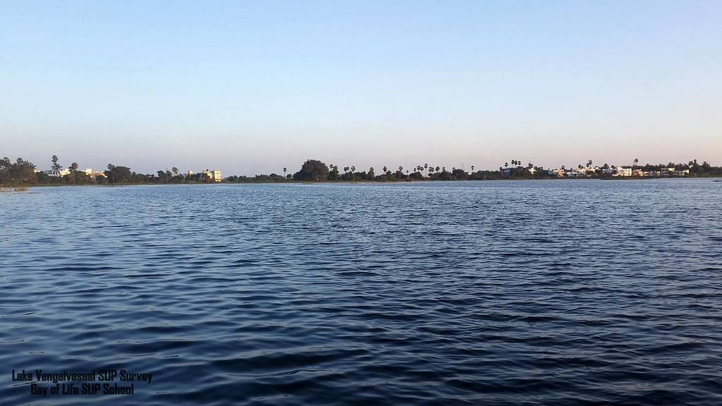 The boundaries of the lake were intentionally redrawn so that the panchayat can dig wells on the lakebed.