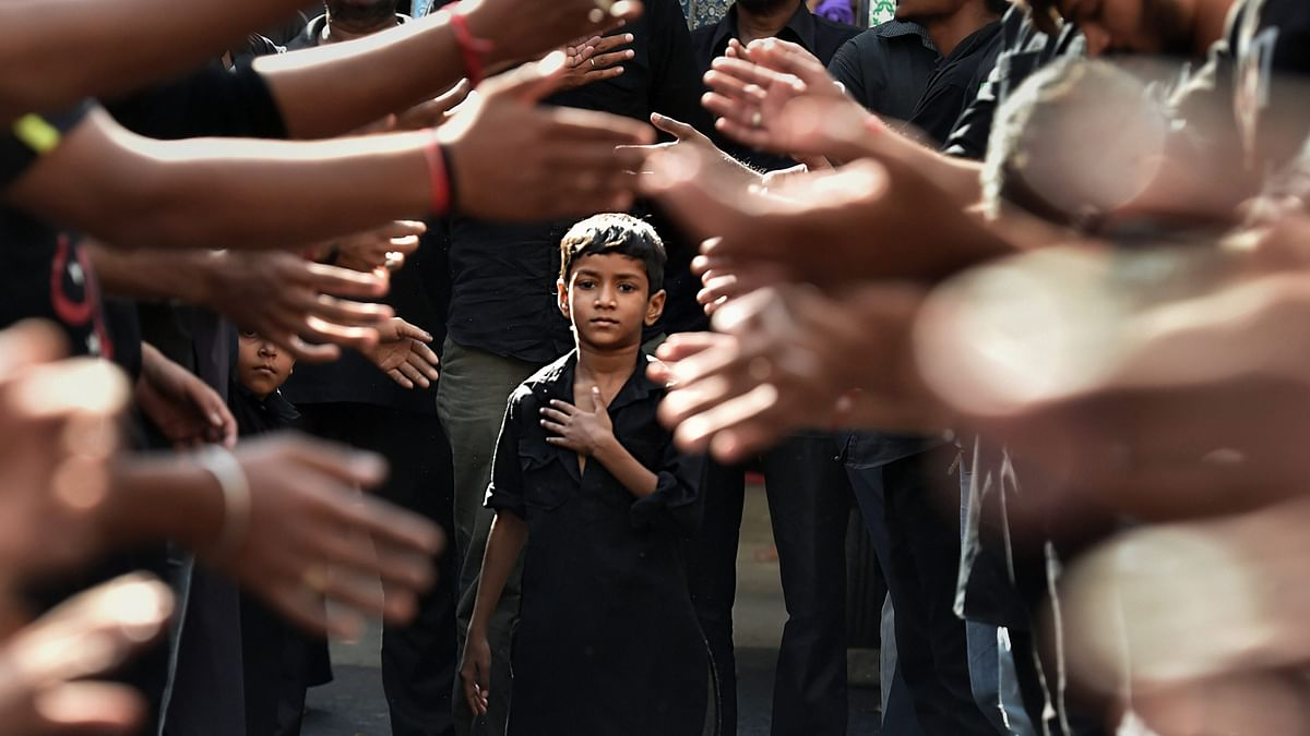 A boy participates in mourning during a Muharram procession in Ahmedabad, Gujarat. Image used for representation purpose.