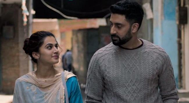 Taapsee Pannu with Abhishek Bachchan in <i>Manmarziyaan.</i>