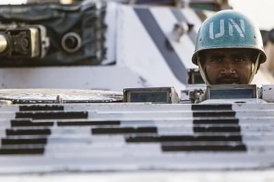 File photo of Indian peacekeepers with the United Nations Mission in South Sudan. (Photo: UN)