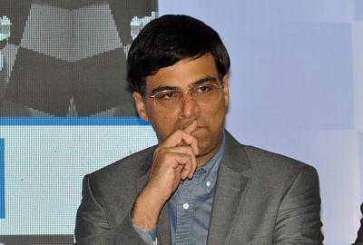 """Kolkata: Indian Chess player Viswanathan Anand during a press conference regarding """"Tata Steel Chess India"""", in Kolkata on Sept 15, 2018. (Photo: Kuntal Chakrabarty/IANS)"""