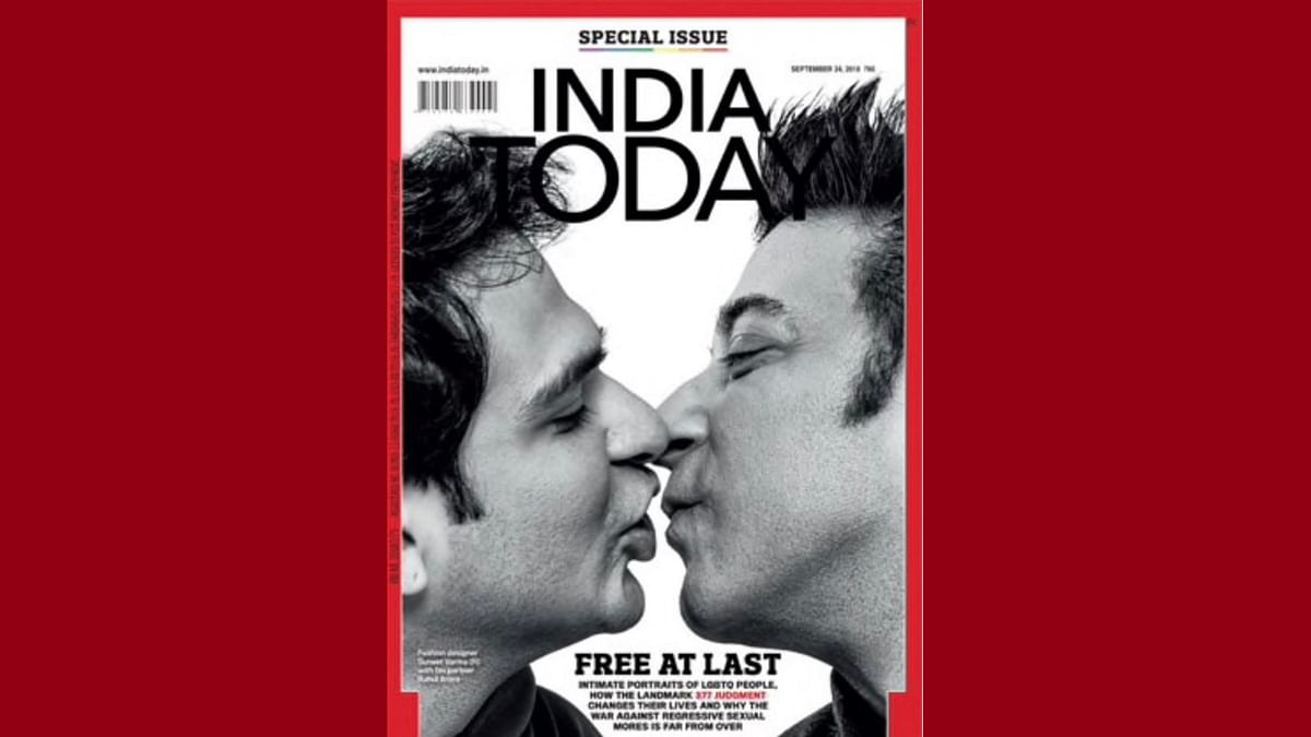 Designer Suneet Varma and his partner Rahul Arora have been featured in 'India Today' magazine's September cover,