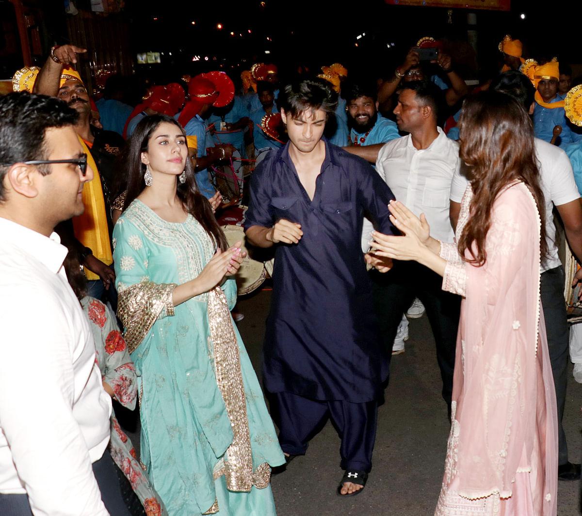 Aayush and Warina shake a leg.