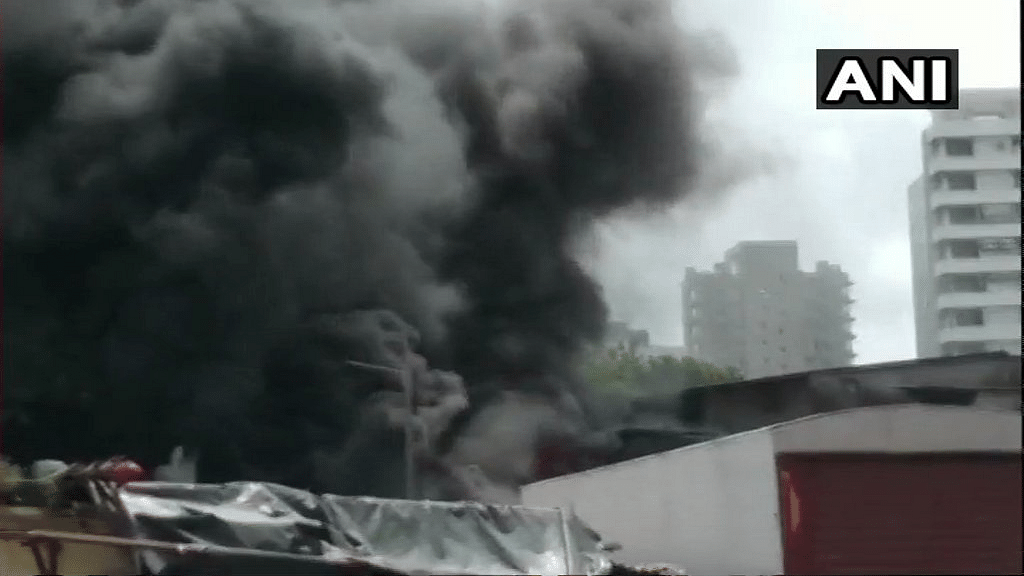 A fire broke out in Somwari Bazar area of Malad West, in Mumbai on Tuesday, 4 September.