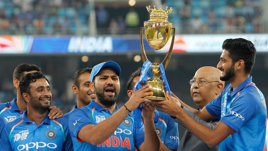 Rohit Sharma led India to their seventh Asia Cup title in 2018.