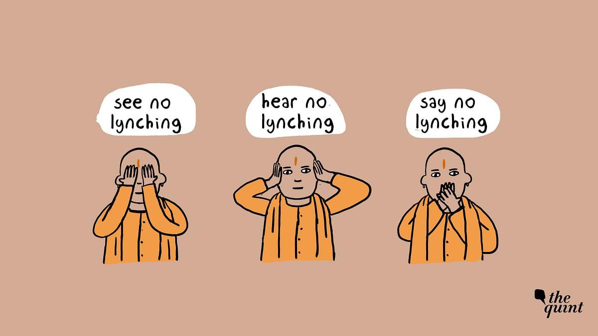 "Honest Cartoon of CM Yogi Adityanath: ""No Mob Lynching Case in UP"""