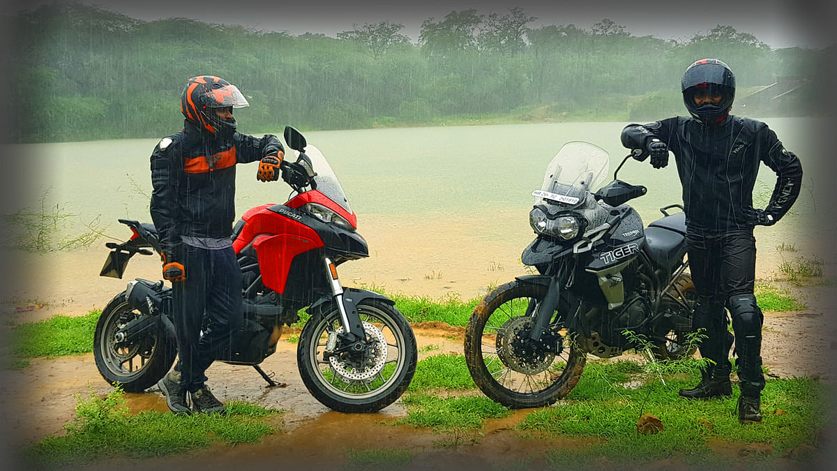 Traffic Tales of Two Serious Off-road Triumph & Ducati Motorcycles