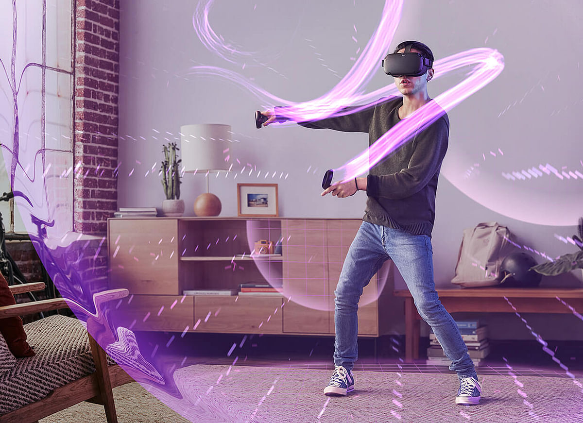 Facebook claims to be able to combine the best of both worlds with the Oculus Quest