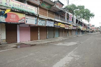 Deserted roads at Muzaffarnagar as Army petrol the streets to defuse tension on Sept 9, 2013. (Photo: IANS)
