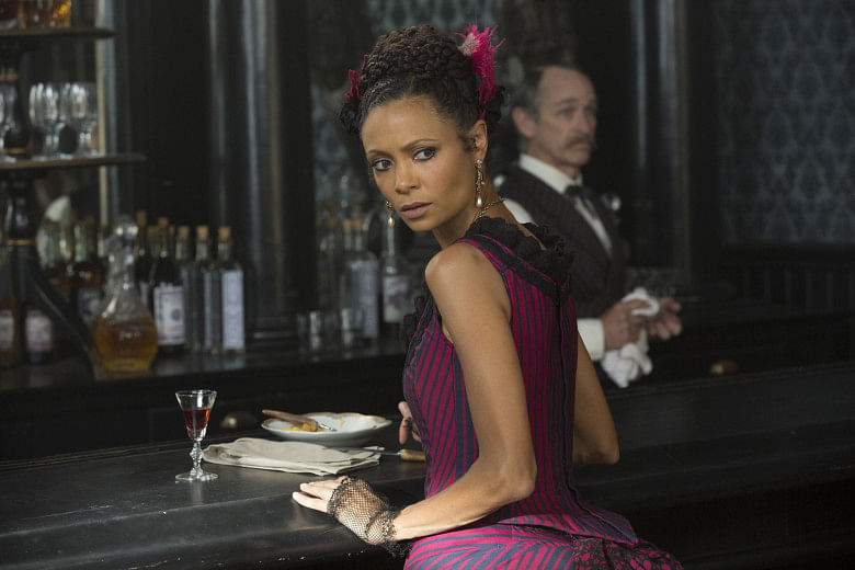 Thandie Newton in <i>Westworld</i>.&nbsp;