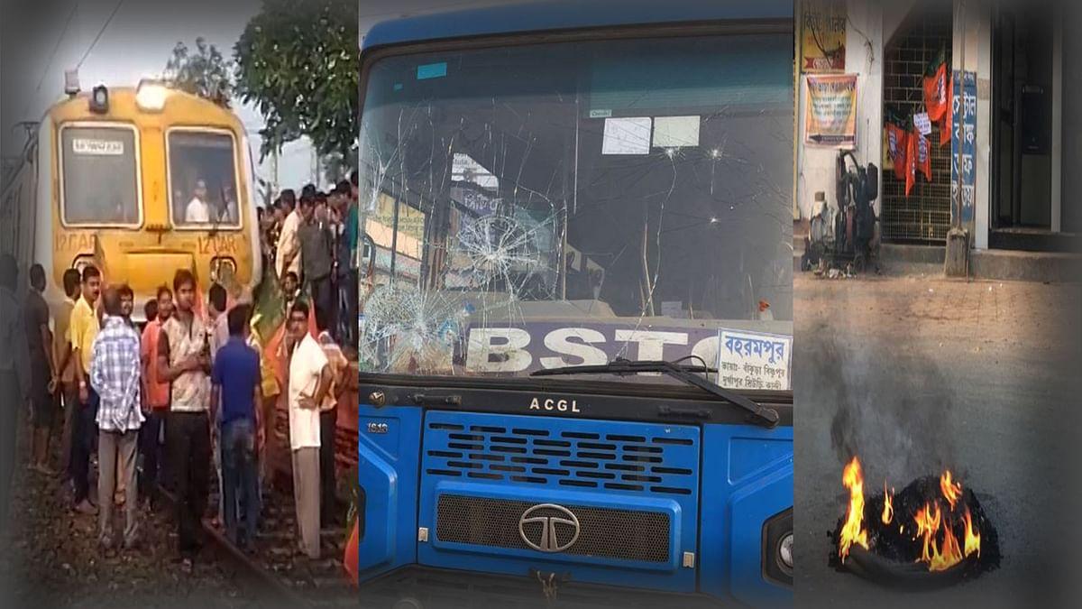 West Bengal Bandh: Train Services Halted, Buses Vandalised