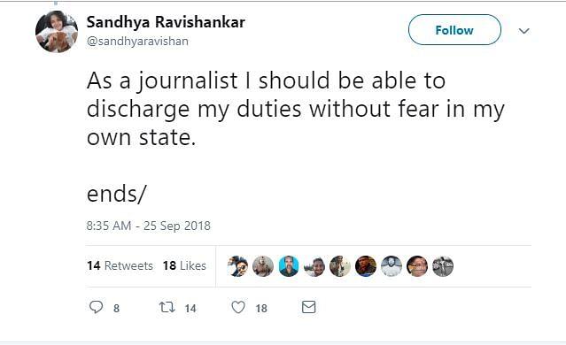 Harassment for Sand Mafia Coverage Continues: Sandhya Ravishankar