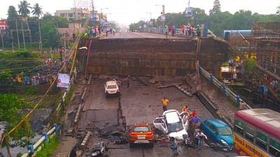 Kolkata: The bridge that partially collapsed in South Kolkata
