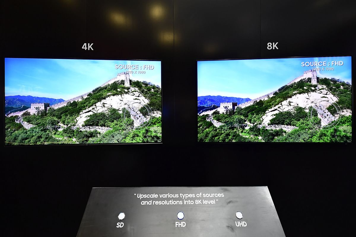 Samsung says that the TV uses a new 8K Quantum processor and AI to improve texture, smoothen the edges and reduce noise and blurring.