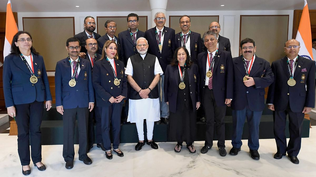 The Indian bridge team, averaging 60 years, won three medals at the Asian Games.