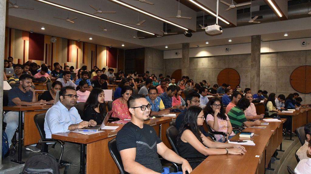 PG students during Pranab Mukherjee's lecture