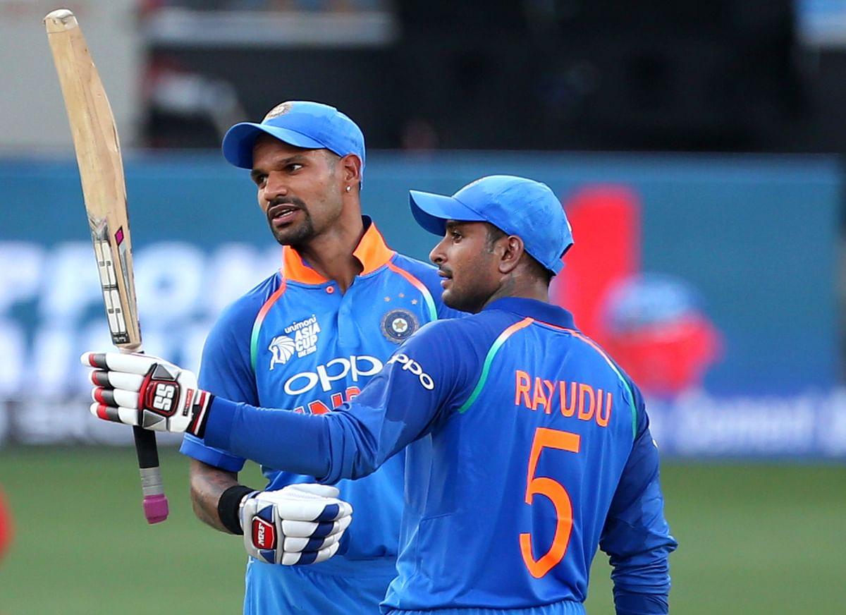 Shikhar Dhawan and Ambati Rayudu during an Asia Cup match.