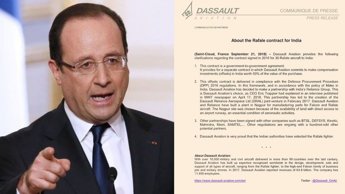 Dassault Aviation Contradicts Hollande's Claim on Rafale Deal