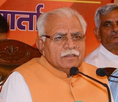 Haryana Chief Minister Manohar Lal Khattar. (File Photo: IANS)