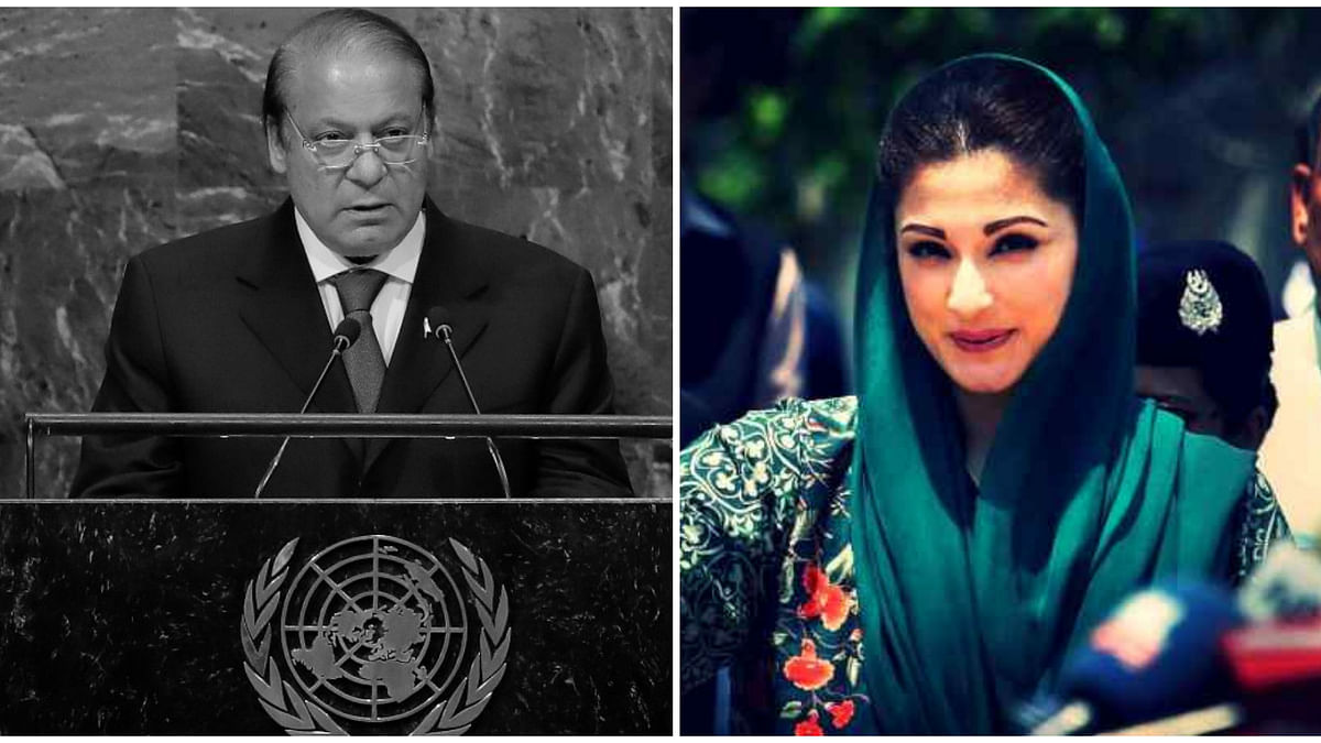 Nawaz Sharif (right) and his daughter Maryam Nawaz were arrested shortly after they were convicted in a corruption case on 6 July.