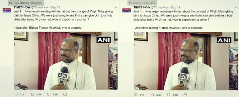 WebQoof: Bishop Mulakkal Didn't Say 'Rape' Led to 'Enlightenment'