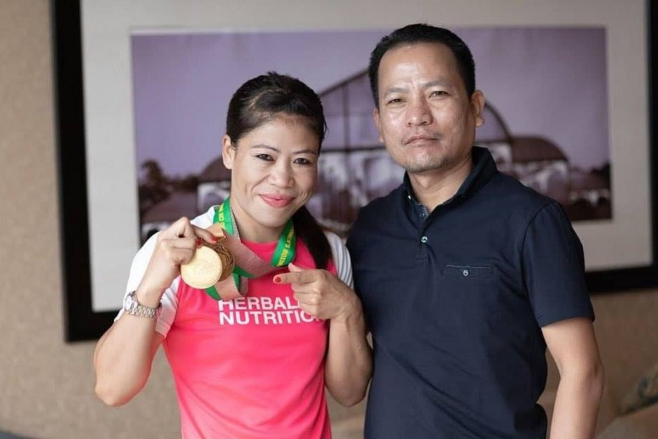 MC Mary Kom with her husband Onler