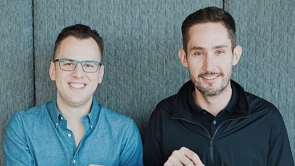 Chief Executive Kevin Systrom (L) and Mike Krieger, Instagram's chief technical officer.