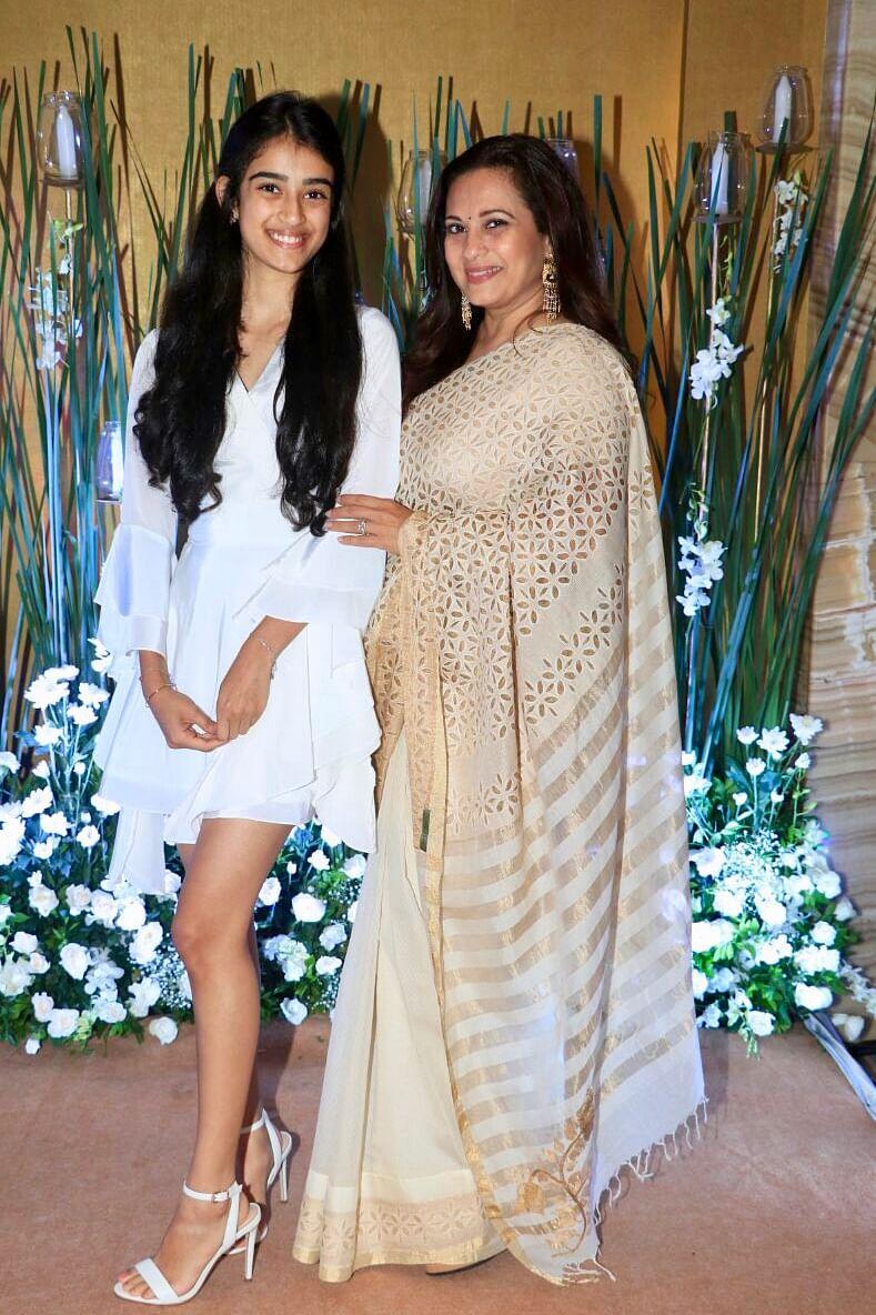 With daughter Kiara.