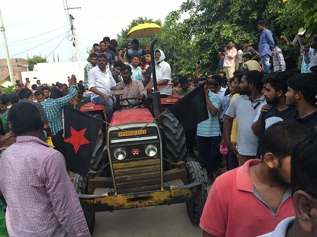Dalits, human rights activists and students were all in attendance for the funeral.